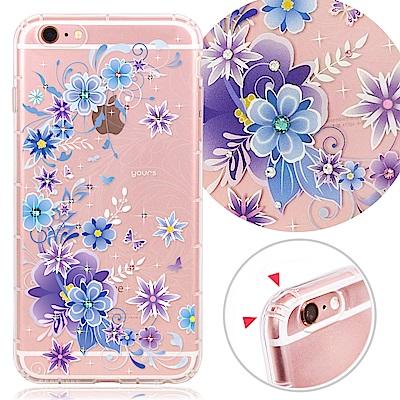 YOURS APPLE iPhone 6s Plus 奧地利彩鑽防摔手機殼-紫櫻...