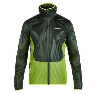 【Berghaus 貝豪斯】男款超輕薄HS防水透氣連帽外套S02M06-綠