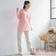 日系小媽咪孕婦裝-哺乳衣~字母愛心配色居家休閒套裝