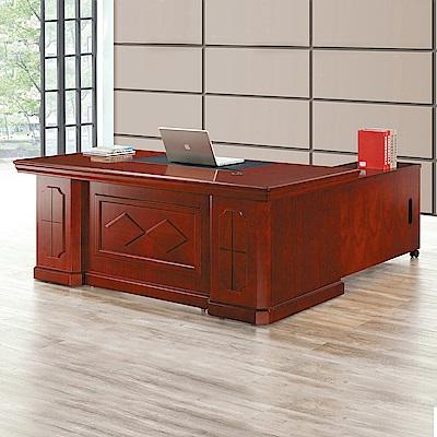 Bernice-巴克爾主管辦公桌組合(辦公桌+側邊櫃+活動櫃)-176x90x76cm