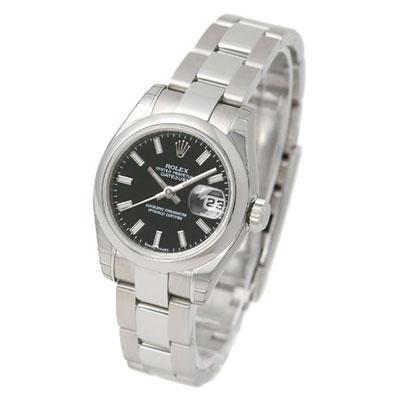 ROLEX 勞力士 Datejust 179160 蠔式恆動日誌型女錶 -黑面/26mm