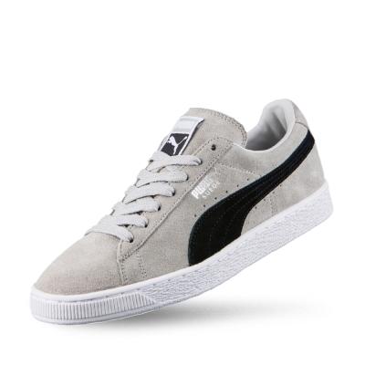 PUMA Suede Classic +男性復古籃球運動鞋-淺灰
