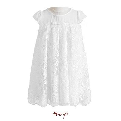 Annys甜美簍空花朵雪紡禮服*3112白