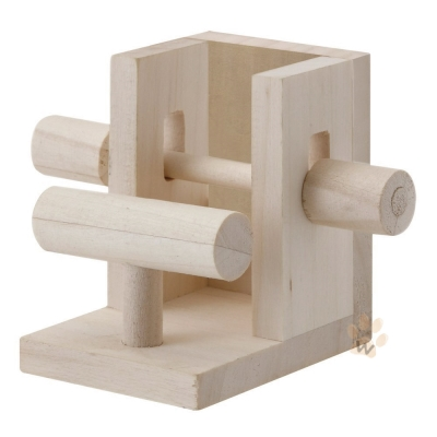 Marukan 鳥 天然木材 舉重玩具 MB~112