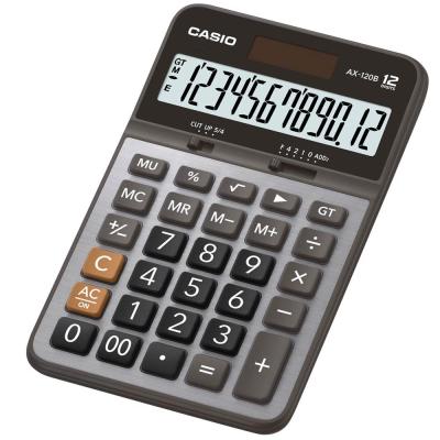 卡西歐CASIO 12位元商用計算機-黑灰面AX-120B