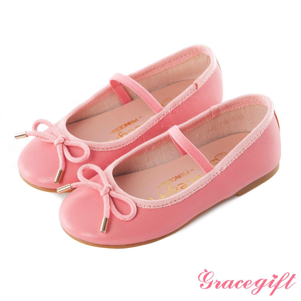 Grace gift-Princess童鞋.蝴蝶結柔軟全羊皮童鞋 粉
