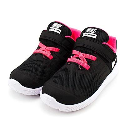 24H-NIKE-幼童鞋907256001-黑桃紅