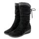 CHOiCE-冬日耀眼-彈力絨布燙鑽楔型中筒靴