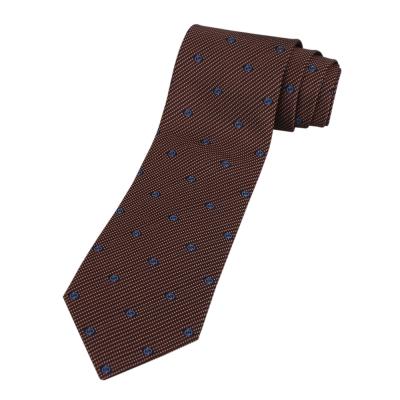 GUCCI 經典LOGO點狀黑底領帶(藍字)