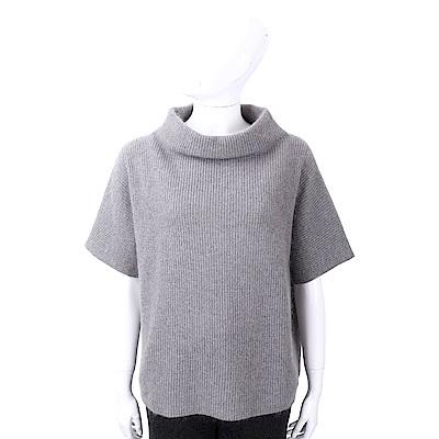 FABIANA FILIPPI 馬海毛坑條紋灰色立領美麗諾羊毛衫