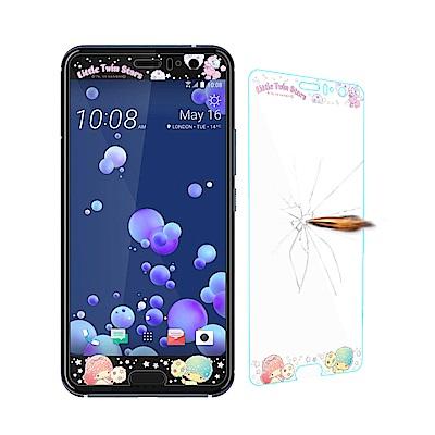 三麗鷗正版 HTC U11 全隱形玻璃保護貼(棉花糖雙子星) 非滿版