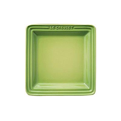 LE CREUSET 瓷器正方盤 21cm (棕櫚綠)