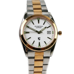 Arseprince 簡約新時尚都會三針女錶-金