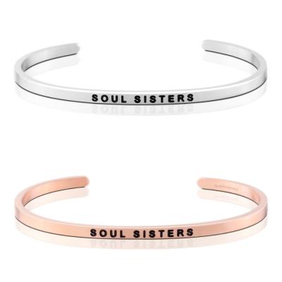 MANTRABAND Soul Sisters 閨密 閨蜜 銀X玫瑰金 手環組