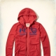 Hollister HCO 長袖 文字 連帽外套 紅色 259 product thumbnail 1