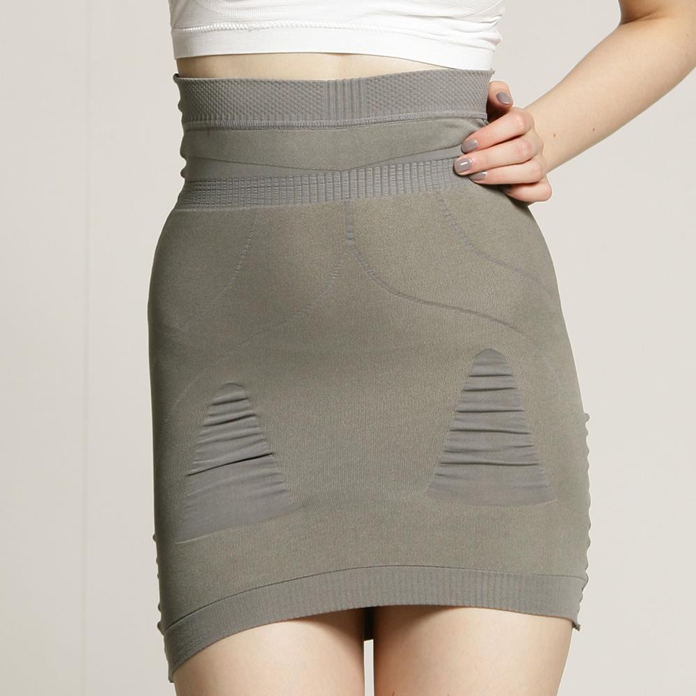 足下物語  280D美臀纖腰塑裙2件組 (S-L) (灰)
