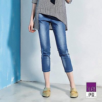 ILEY伊蕾 刷色彈力修身減重牛仔褲(藍)
