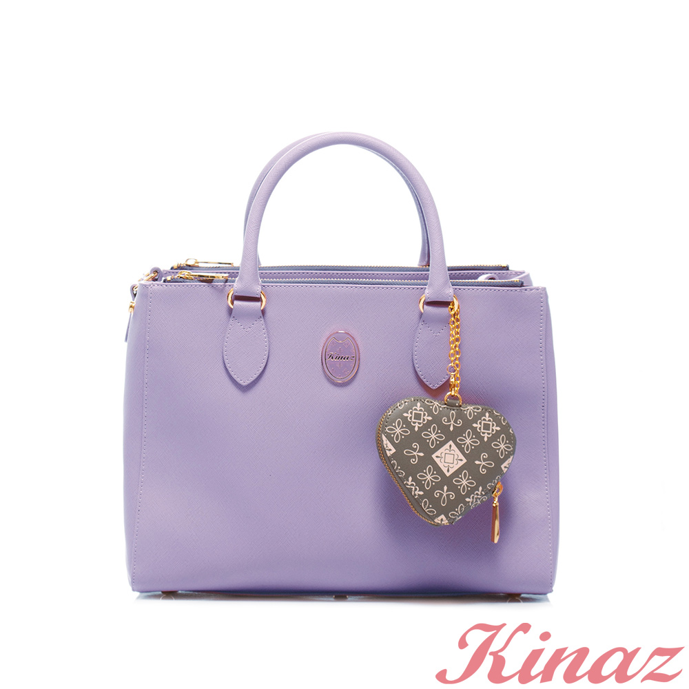 KINAZ -Dizzying糖果色天空系列~繽紛奢華兩用包-薰衣草紫