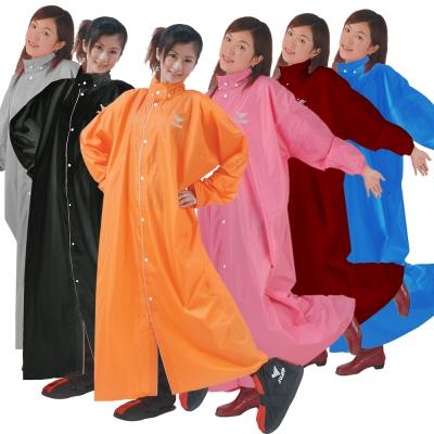 【JUMP】前開素色連身休閒風雨衣(2XL~4XL)-快