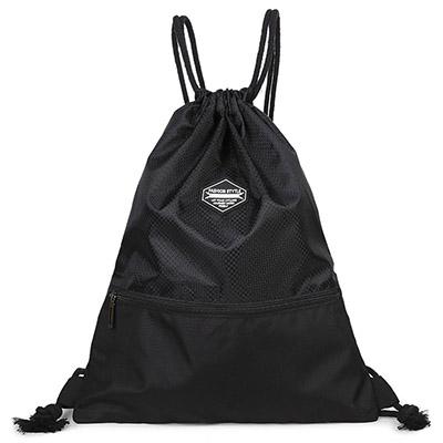 WEROCKER-束口袋後背包-黑色-WR200109