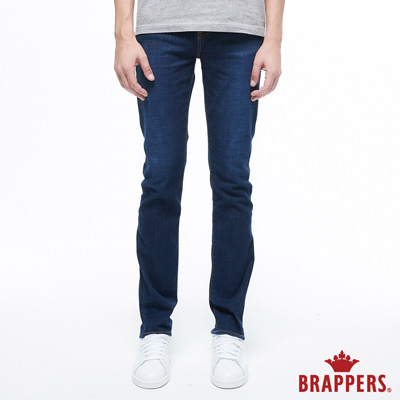 BRAPPERS 男款 HM-中腰系列-中腰彈性直筒褲-深藍