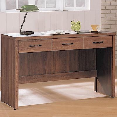 H&D 淺胡4尺三抽書桌 (寬120X深59X高80.9cm)