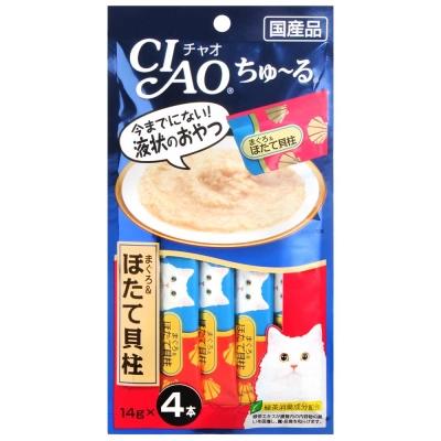 CIAO 啾嚕肉泥-鮪魚&干貝(14gx4入)