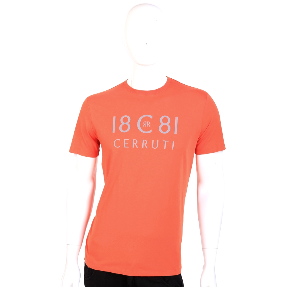 CERRUTI 1881 橘色字母LOGO短袖上衣