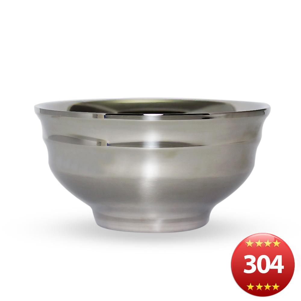 露營304不鏽鋼雙輕量層隔熱碗-18cm