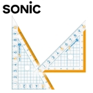 Sonic 10CM 超強止滑大數字三角板10組