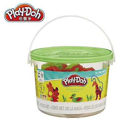 Play-Doh培樂多 工具迷你桶-綠色動物