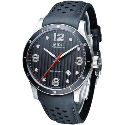 美度 MIDO Multifort 先鋒系列80小時機械錶-黑x銀/42mm