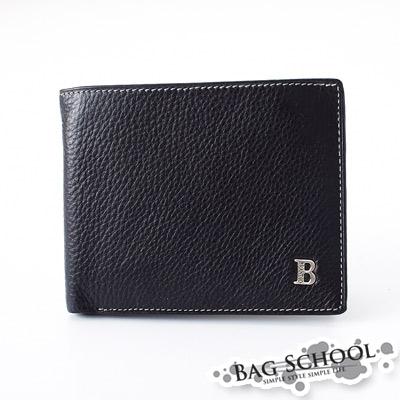 DF【Bag school 包學院】內斂紳士品味實用多夾層可拆式牛皮短夾