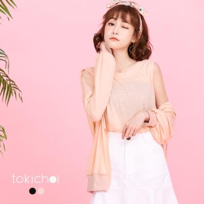 東京著衣 兩件式蜜糖女孩抽繩連帽拋袖外套(共二色)