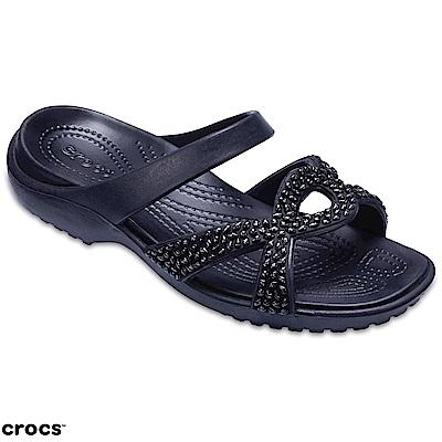 Crocs 卡駱馳 (女鞋) 女士美俐交叉鑲鑽涼鞋 205101-060