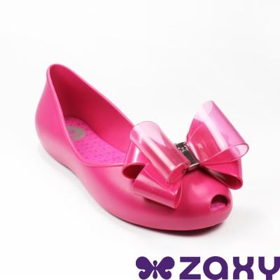 Zaxy 巴西 女 LINK SAP 法式香頌娃娃鞋(亮麗桃)