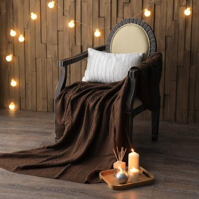 MONTAGUT-針織毛線毯(咖啡)