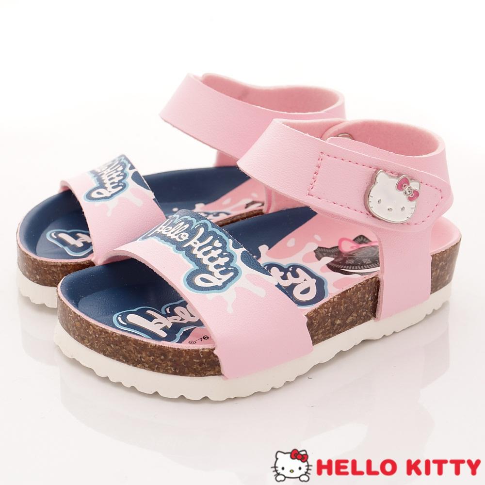 HelloKitty童鞋 餅乾造型軟木涼鞋款 EI18135粉(小童段)