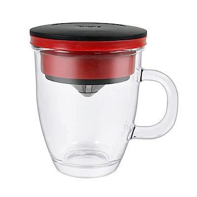 PO不鏽鋼咖啡濾杯馬克組(紅)
