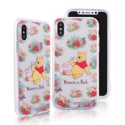 Disney迪士尼iPhone X花花世界防摔氣墊空壓保護套 維尼小豬