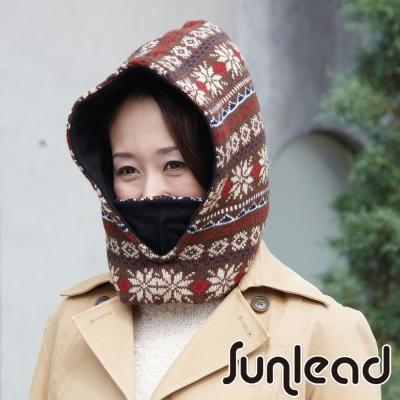 Sunlead 保暖防風雙層加厚密針織多機能防寒頭套/面罩/脖圍 (暖棕色)