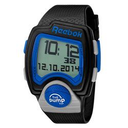 Reebok PL系列空中飛人電子運動腕錶-藍x黑/43mmx40mm
