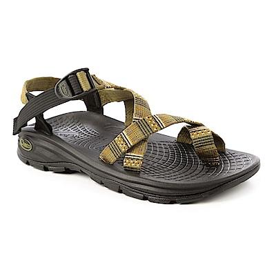 美國Chaco。男 冒險旅遊涼鞋-夾腳款CH-EZM02HC52 (橄欖大軍)