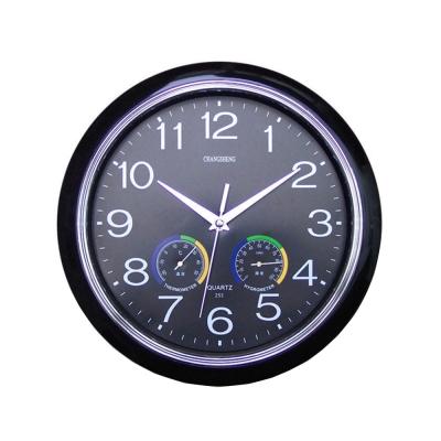便利社 溫濕度計時鐘 超靜音 12吋