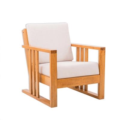 日木家居Perry珀里實木單人沙發
