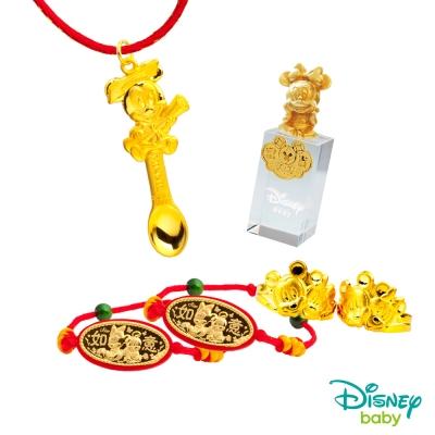 Disney迪士尼系列金飾 彌月金飾印章套組木盒-榜首美妮款-美妮造型印章 <b>0</b>.75錢