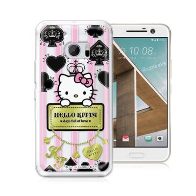 三麗鷗正版 凱蒂貓 HTC 10 / M10 透明軟式保護殼(撲克牌)