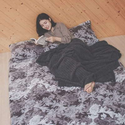 葉月 台灣製 雙人加大-超厚法蘭絨防靜電專利日式床墊-桑卡