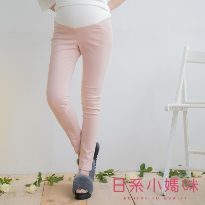 日系小媽咪孕婦裝-韓製孕婦褲-修身塑型素面窄管褲-M-XL-共三色