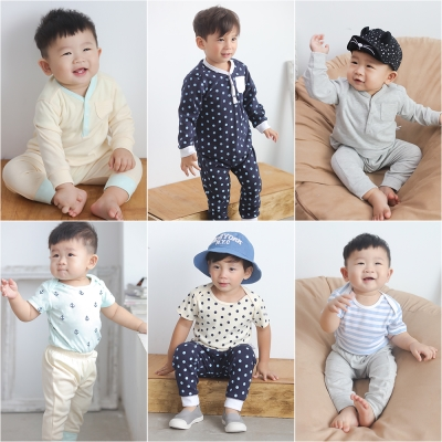 baby童衣 居家套裝組 包屁衣+套裝3件套 60147